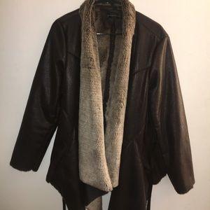 Bagatelle Leather Jacket w/ Rabbit Fur Lining